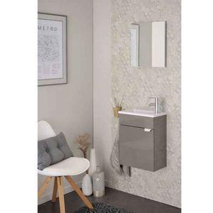 meuble salle de bain taupe achat vente meuble salle de bain taupe pas cher cdiscount. Black Bedroom Furniture Sets. Home Design Ideas
