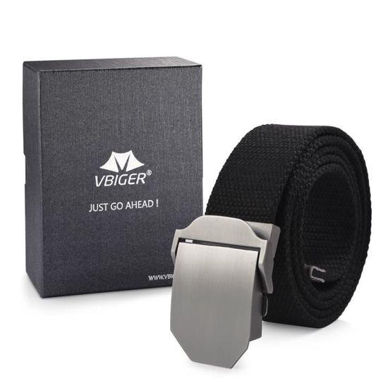 Vbiger Ceinture en Toile Unisexe Simple Casual(Sans boucle) - Achat   Vente  ceinture et boucle 2009785139941 - Cdiscount 9ff706db6ef