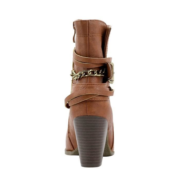 Multi Bracelet Boucle cheville bottillons « Newtown TOKEZ Taille-39 1-2