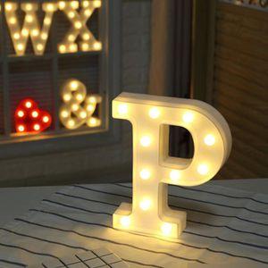 OBJETS LUMINEUX DÉCO  LADUU (P) A-Z Style Alphabet Lettre Blanc Chaud Nu