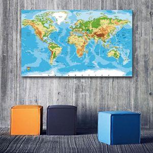 Tableau decoration salon carte du monde - Achat / Vente ...