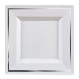 assiette blanche carre achat vente assiette blanche carre pas cher cdiscount. Black Bedroom Furniture Sets. Home Design Ideas
