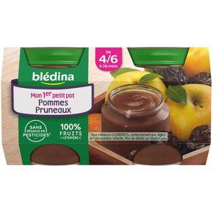 DESSERT FRUITS BÉBÉ BLEDINA Petits pots Purée de fruits Pomme pruneaux