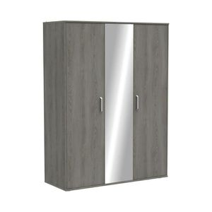 ARMOIRE DE CHAMBRE Armoire 2 portes et 1 miroir 144x55x192 cm en chên