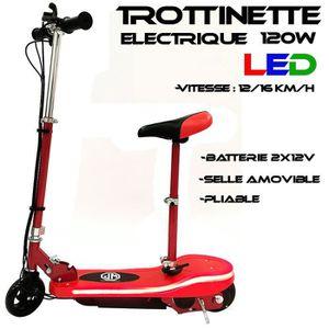 TROTTINETTE ELECTRIQUE Trottinette electrique LED 120w Design Rouge