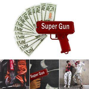 PISTOLET BILLE MOUSSE Cash Cannon Money Gun Make It Rain Argent jouet Ro