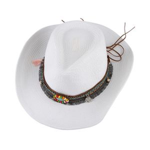 CHAPEAU - BOB EOZY Chapeau de Paille Femme Homme Chapeau de Cow- ... 7cb6b3735ad