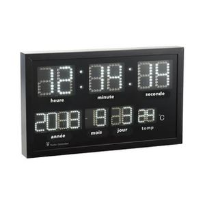 horloge radio pilotee avec date achat vente horloge radio pilotee avec date pas cher. Black Bedroom Furniture Sets. Home Design Ideas