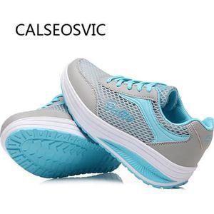 BASKET Sport Baskets Runner-L Chaussures Femme Bleu
