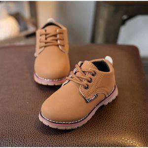 BOTTE Enfants Mode Garçons Filles Martin Sneaker Hiver Épais Neige Bébé Casual Chaussures@Beige 64j2K