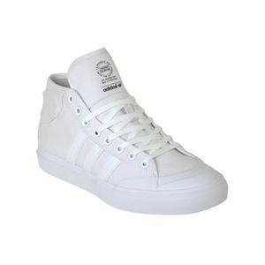SKATESHOES Chaussure Adidas Matchcourt Mid Blanc-Blanc-Blanc