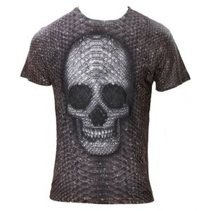 T-SHIRT Monkey Business - SNAKE SKIN SKULL - T-shirt pour