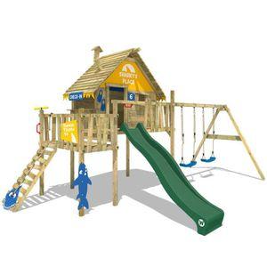 STATION DE JEUX Aire de jeux WICKEY Resort Cabane en bois sur pilo