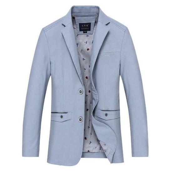 Veste l été Casual Costume Ville Printemps Droite De Couleur Vêtements  Complet Homme Unie veston r7wxrz5 16014ace531
