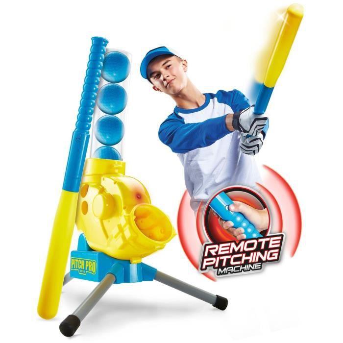 PITCH PRO GETGO Mini Lance-balles, Jeu de Base-Ball avec Balles en Plastique - Worlds Apart