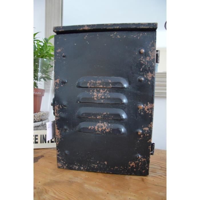 bo te clefs murale indus achat vente armoire boite a cl cdiscount. Black Bedroom Furniture Sets. Home Design Ideas
