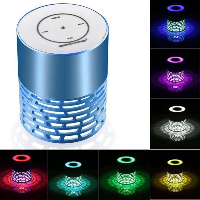Mini Haut-parleur Portable Bluetooth Led Sans Fil Basse Pour Smartphone Bu Tablet Pc @5559