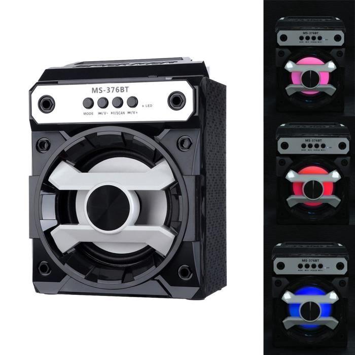 Extérieur Sans Fil Bluetooth Haut-parleur Portable Super Bass Avec Radio Usb - Tf Aux Fm_yx*558