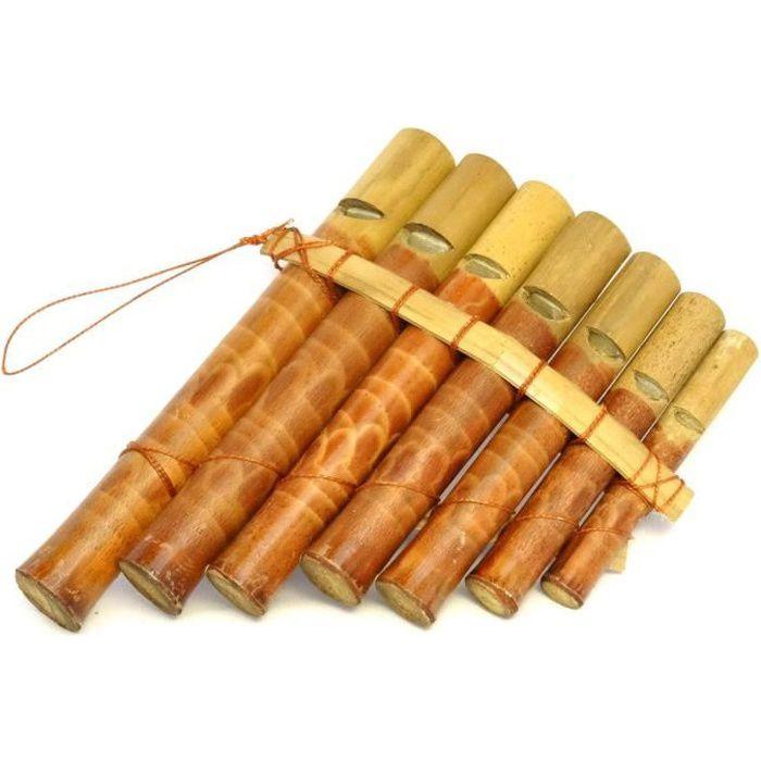 Flute de pan bambou instrument musique bois artisanat panpipes bamboo flauta pan pas cher - Photo d instrument de musique ...