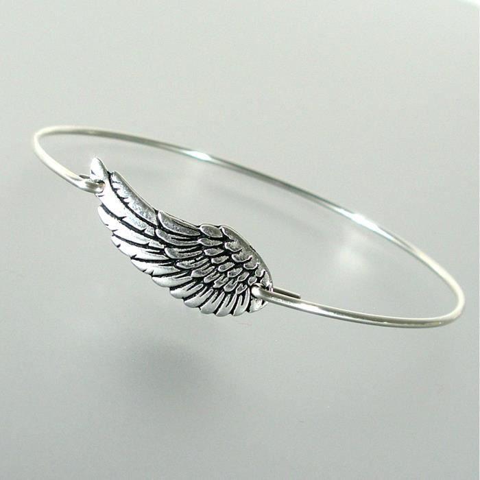 Craze Wing Bangle Bracelet - Ss