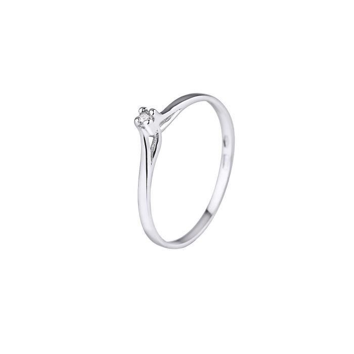 DIAMOND LANE Bague Argent 925° et Diamant Femme