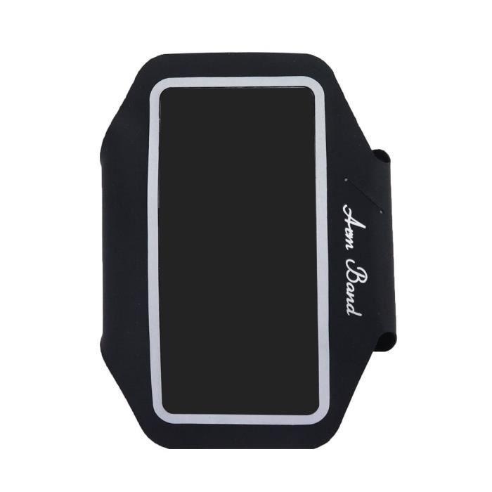 Sports Course à pied Gym Jogging Brassard Holder Cover Band bras pour téléphone mobile Noir