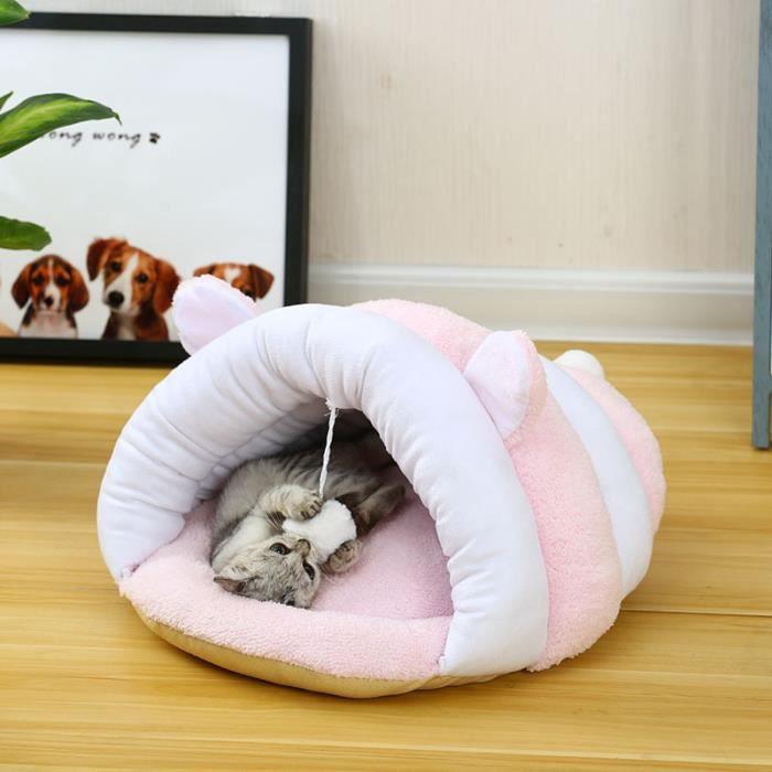 Hzdhclh® Maison Lit Pour Chien Chat Panier Animal Souple De Couleur L-48x50x30cm