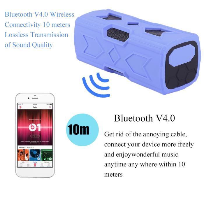 Haut-parleur Bluetooth 3d Musique Stéréo Sans Fil Portable Avec Fonction Nfc D'alimentation Mobile Bleu