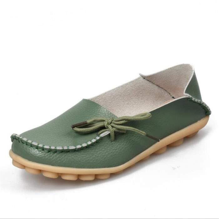 Loafer femmes Marque De Luxe Nouvelle arrivee Grande Taille chaussure Meilleure Qualité chaussures plates Confortable 9r2N6cSwva