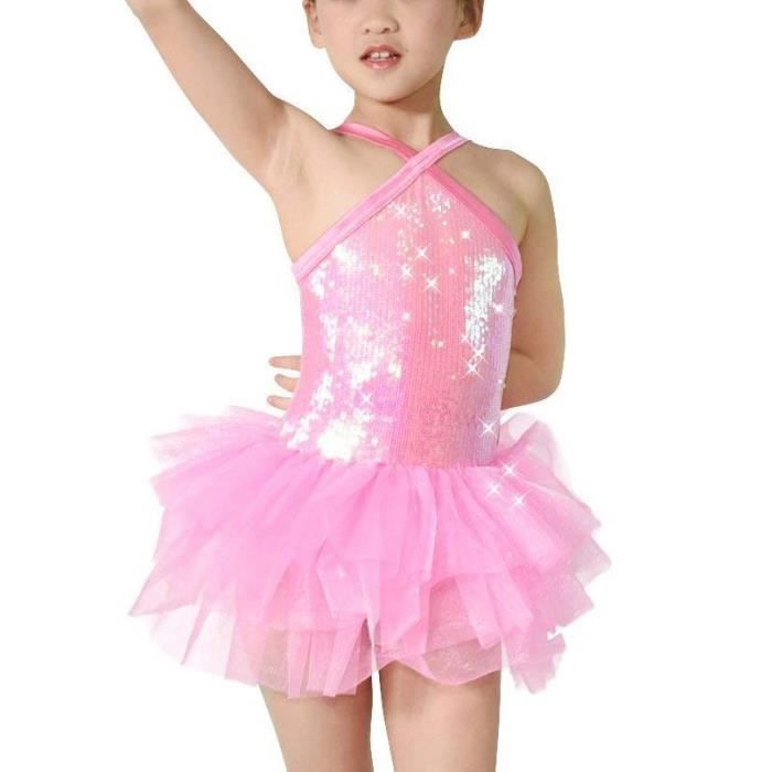 Robe paillette Fille - Justaucorps Danse maille - robe Ballet Tutu ... f4ad86ef332