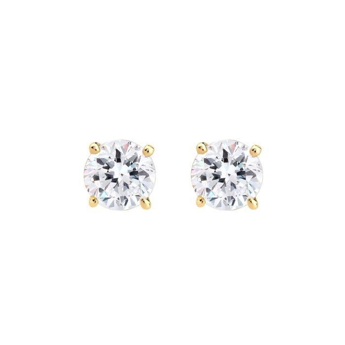 Elli 0310890215 Ros Gold Stud Earrings With Brilliant Cut Pink Swarovski Crystals 1AIP44