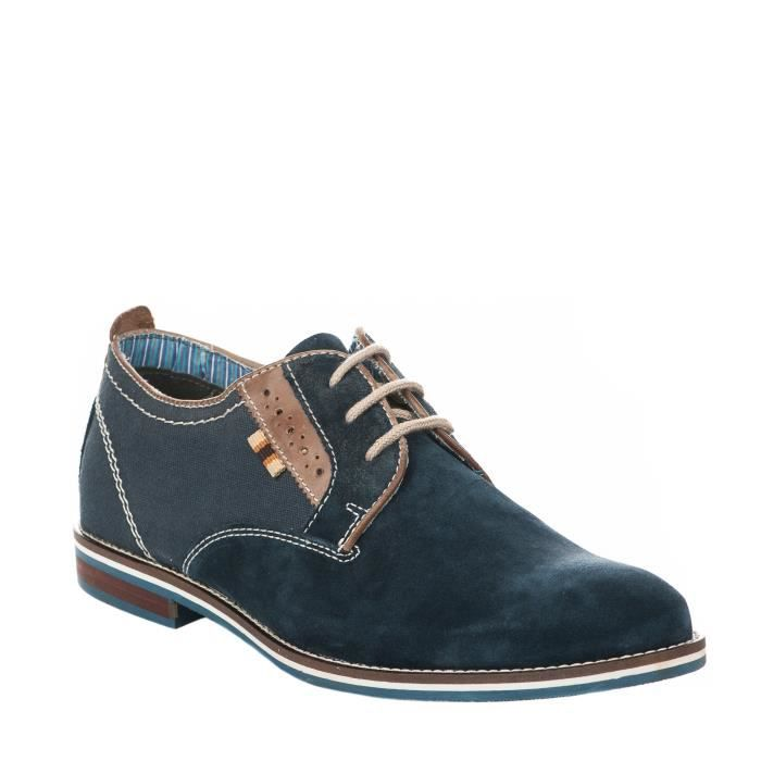 Chaussures à lacet homme - FIRST COLLECTIVE - Bleu marine - MS-022H38STAFF - Millim YSi8u