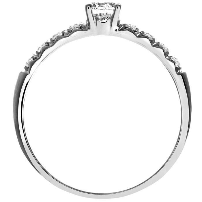 Revoni Bague Solitaire Diamant Or Blanc 750° Femme: Poids du diamant : 0.5 ct - CD-PR1096018KW-O