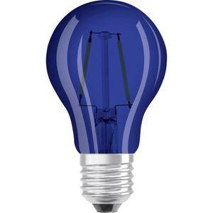AMPOULE - LED 3 x Ampoule LED GLS 2w ES E27 - BLEUE (Ledvance)