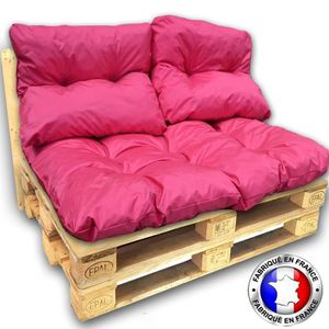 COUSSIN KIT COUSSINS PALETTE IMPERMEABLE rose 1 assise+2 d