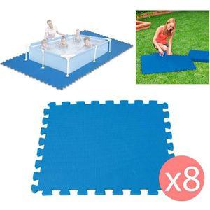 BÂCHE - COUVERTURE  8 Dalles Tapis de Sol modulable pour piscine - 50