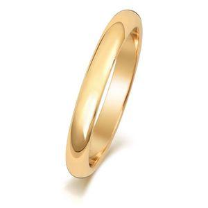 ALLIANCE - SOLITAIRE Bague de Mariage-Alliance Homme-Femme 3mm Forme D