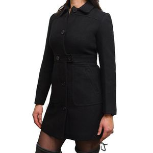 bfccef0a82 PARKA Manteau d'hiver Noir Chaud Femmes Designer Fit élé