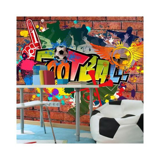 Papier Peint Football Fans Dimension 300x210 Achat Vente