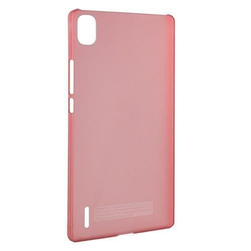HUAWEI Coque rigide translucide - Pour Huawei Ascend P7 - Rouge