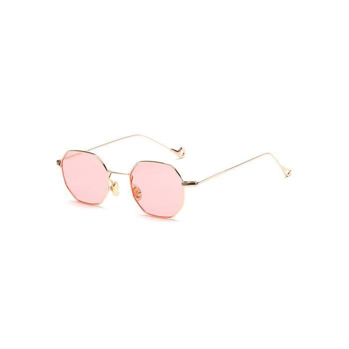Lunettes de soleil rétro évider Cerclée carrés lunettes Frame hommes 870