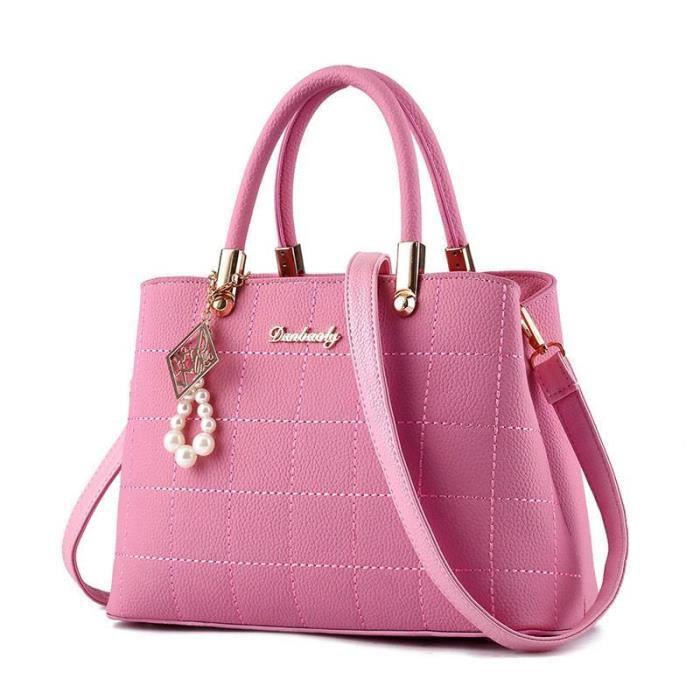 sac cuir Nouvelle mode sac à main femme de marque luxe cuir meilleure qualité rose Sacs À Main Femmes Célèbres Marques