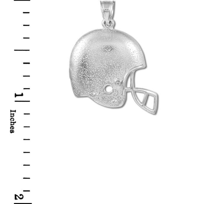 Collier Pendentif10 ct 471/1000 sport Casque et Blanc Collier Pendentifen or Football (vient avec une Chaîne de 45 cm)