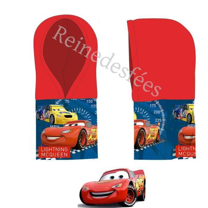 fb81e042984a Cagoule enfant bonnet cache oreilles écharpe cache cou rouge Snood Voiture  CARS Disney garçons 3 à 7 ans Flash Mc Queen