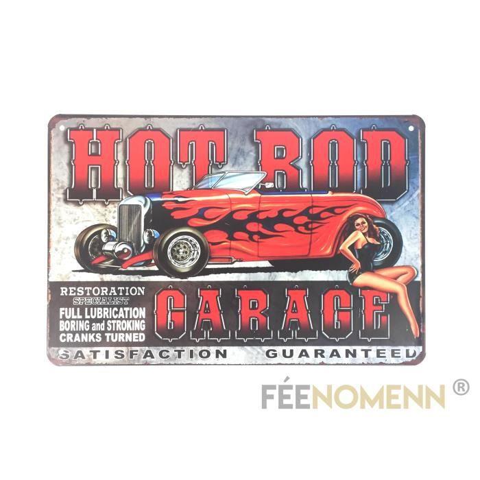 Métal Restoration Vintage Voiture Plaque Rod Pin Garage Hot Up20x30cm Déco QrdoexBCW