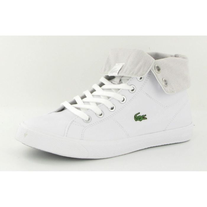 585d8f4efe Chaussures Lacoste Marcel High F… Blanc Blanc - Achat / Vente basket ...