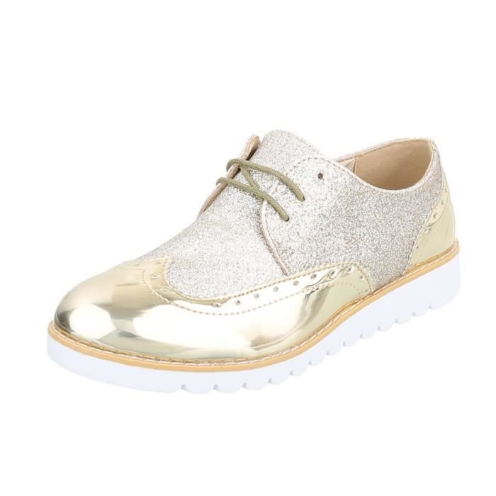 Chaussures femme flâneurs laceter or 41