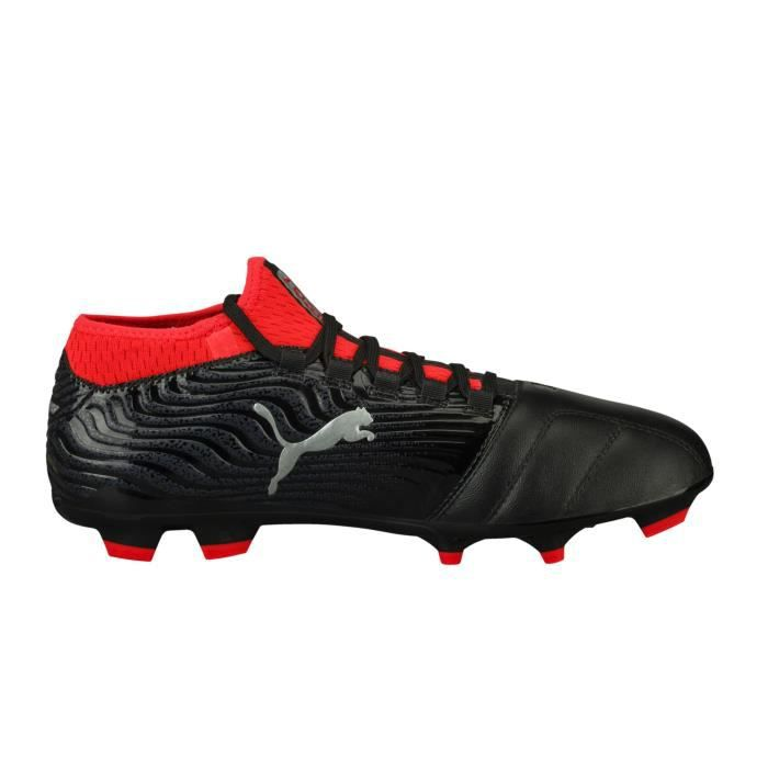 size 40 f5f1d 25460 Chaussures football Puma One 18.3 FG Noir-Rouge