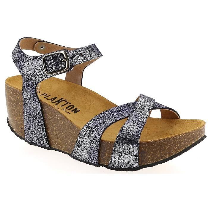 Sandales et nu-pieds en Cuir Camel Plakton dcR43tTnz
