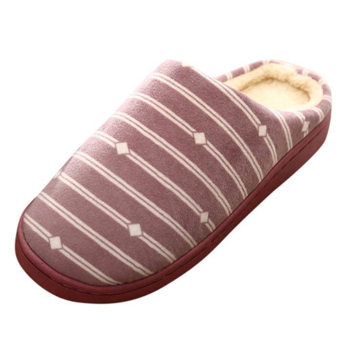 Peluche Étage Chaudes Chaussures Bl09080418819 En Pantoufles Femmes Chambre Antidérapants Intérieur Vichy 18fdtwaFqa